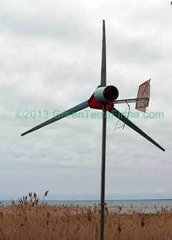 8 foot sweep wind turbine at Lake Huron