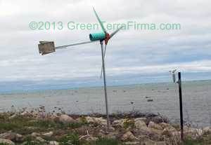 8 ft sweep DIY wind turbine