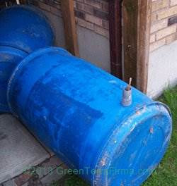 rainbarrels joined together