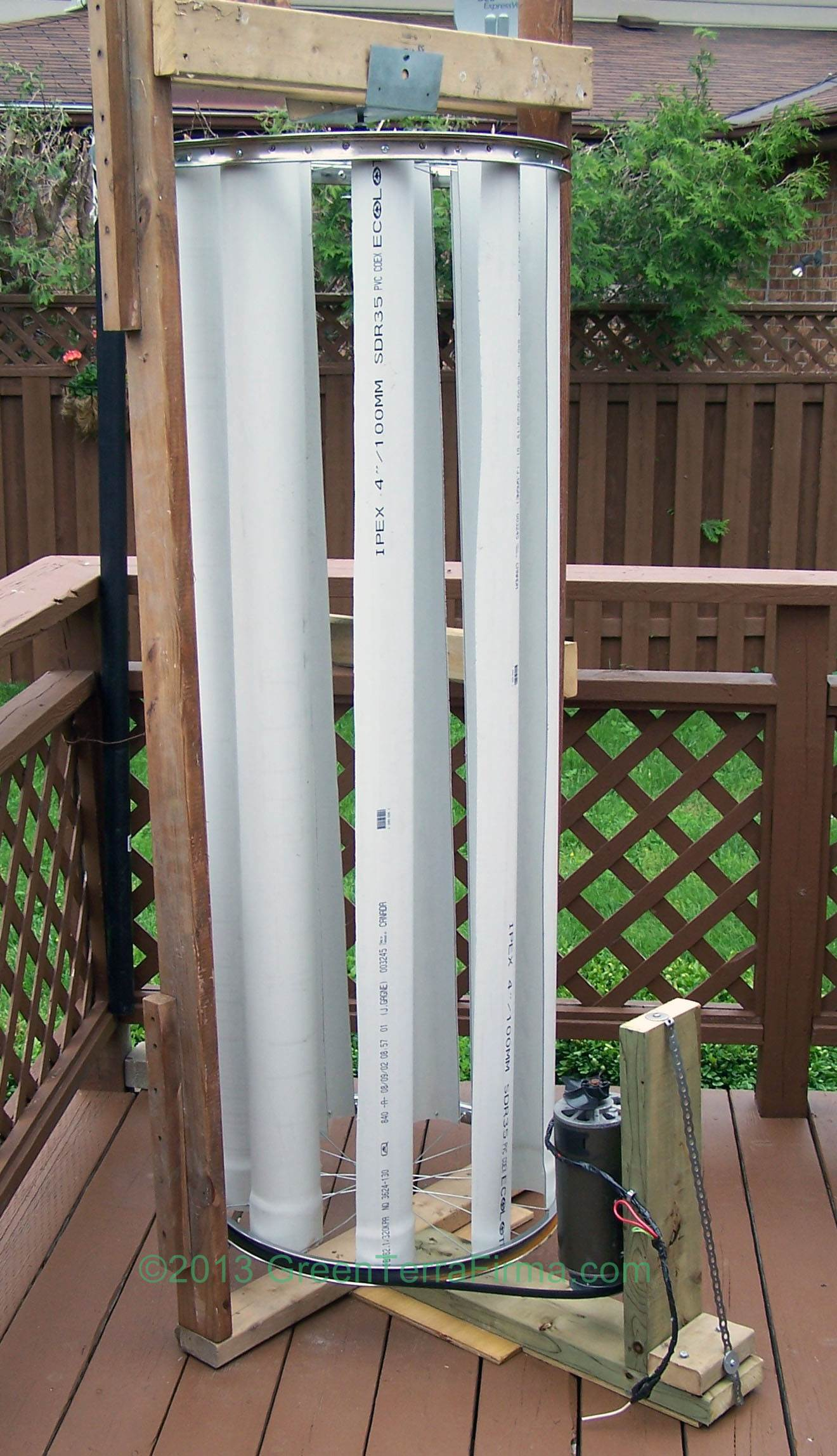 Vertical Axis Wind Turbine Homemade