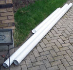 PVC pipe for vawt blades